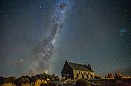 Nový Zéland - kostel dobrého Pastýře. (HorracioCZE)