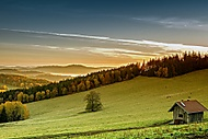 Východ slunce a mlha (JanochINFO)