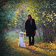 Woman with a dog (Megas.Lakkos)
