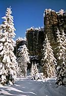 Vzpomínka na zimu v Teplických skalách (Vlastimil Pibil)