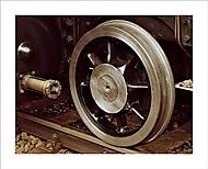 Vodiace koleso. Rušeň 556.036 Štoker. (Ivan 76)