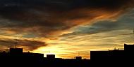 západ slunce nad sídlištěm (msky)